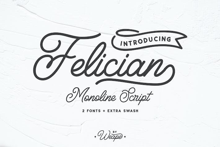 Thumbnail for Felician Monoline Script