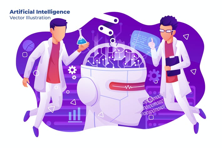 Thumbnail for Artificial Intelligence - Vector Illustration