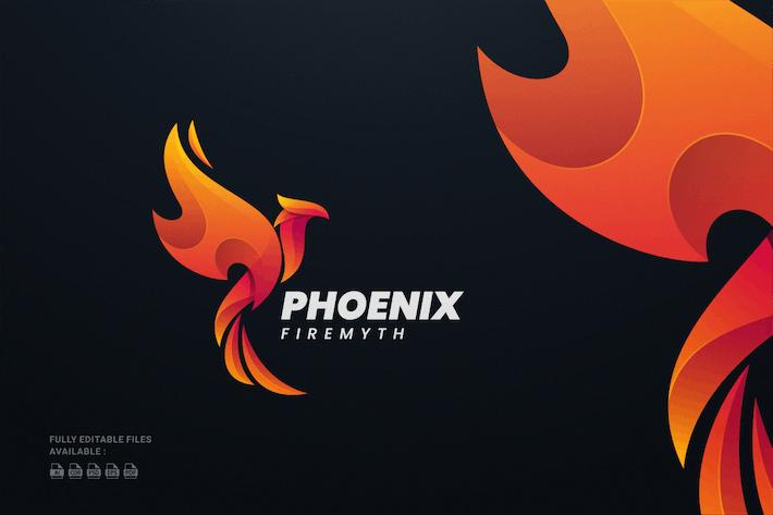 Thumbnail for Phoenix Fire Gradient Colorful Logo
