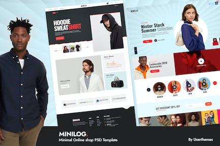 Minilog - Minimal Online shop PSD Template