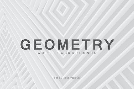 Weiße Geometrie-Hintergründe 1