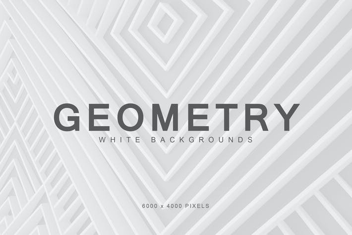 Thumbnail for White Geometry Backgrounds 1