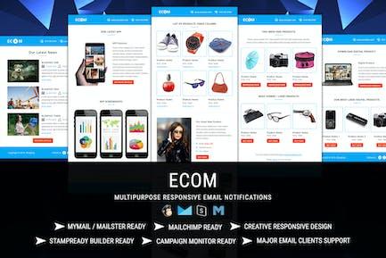 ECOM Transactional & Notification Email Templates
