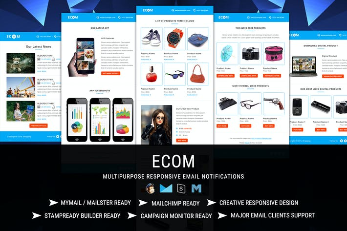Thumbnail for ECOM Transactional & Notification Email Templates