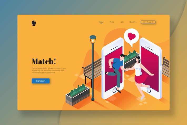 Thumbnail for Матч! - Изометрическая целевая страница