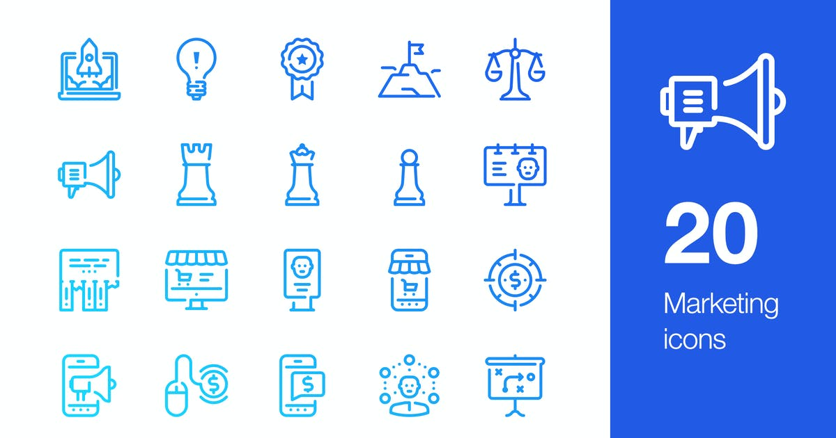 Download 20 Marketing icons by mir_design