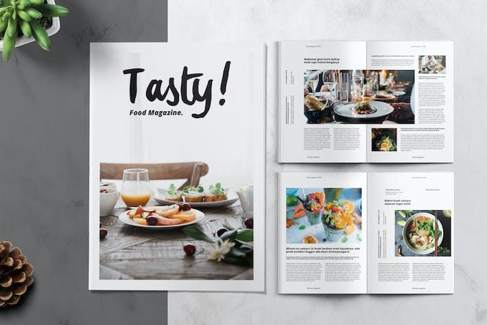 Modèle de magazine alimentaire et culinaire