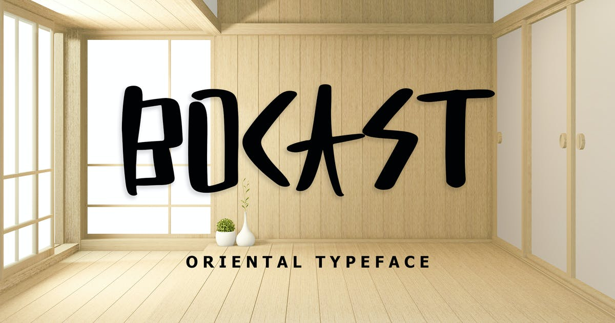 Download Bocast Japan Style Display Font by giantdesign