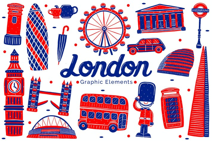 Thumbnail for London Landmark Graphic Elements