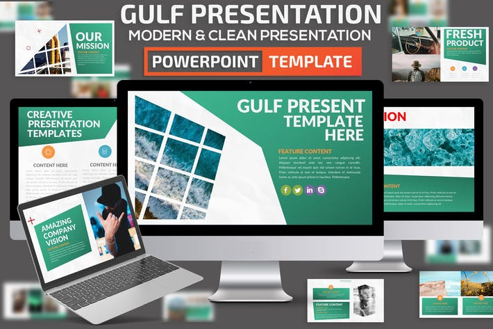 Thumbnail for Gulf Powerpoint Presentation Template