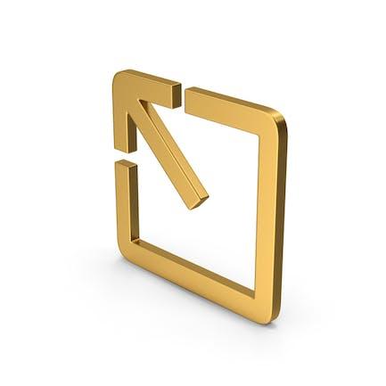 Symbol Expand Gold