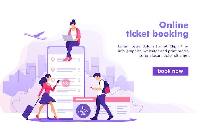 Flugkarten Online Buchungskonzept