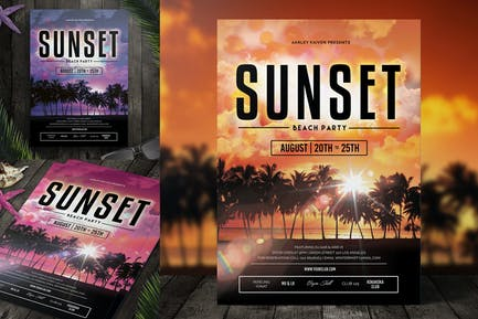 Sunset Event Flyer