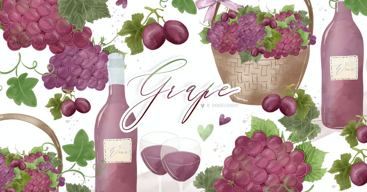 Download Grape design by dandelionery