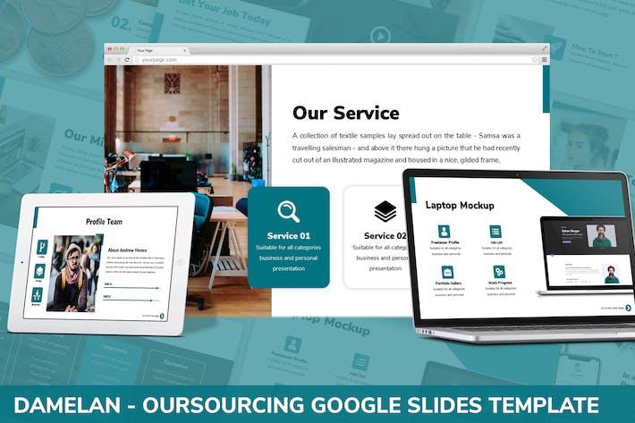 Thumbnail for Damelan - Google Slides Vorlage auslagern