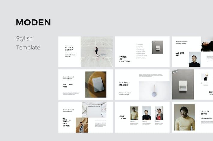 Thumbnail for MODEN - Шаблон стиля Keynote