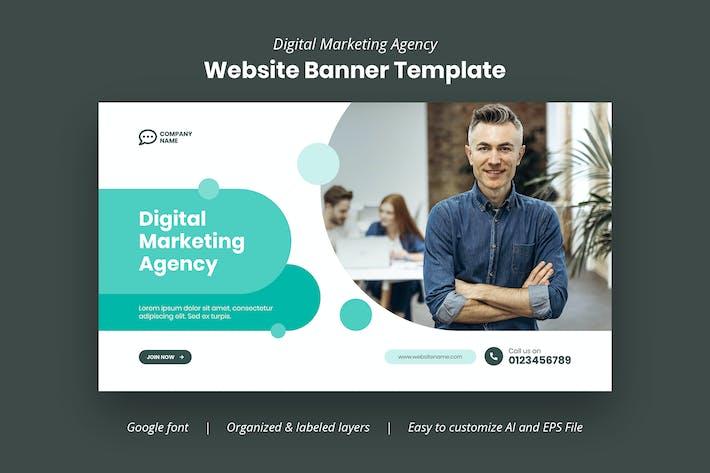 Digital Marketing Agency Website Banner Template