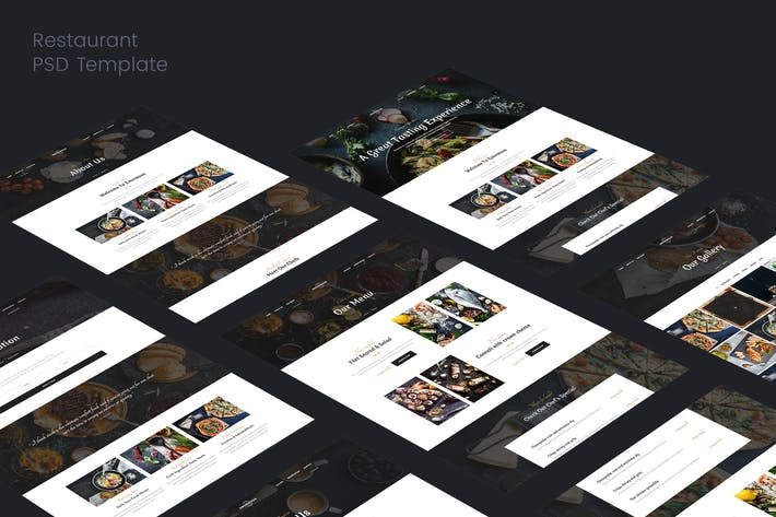 Thumbnail for Restaurant PSD Template