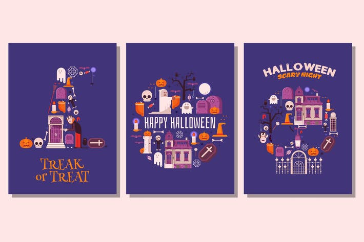 Cover Image For Happy Halloween Night Cards