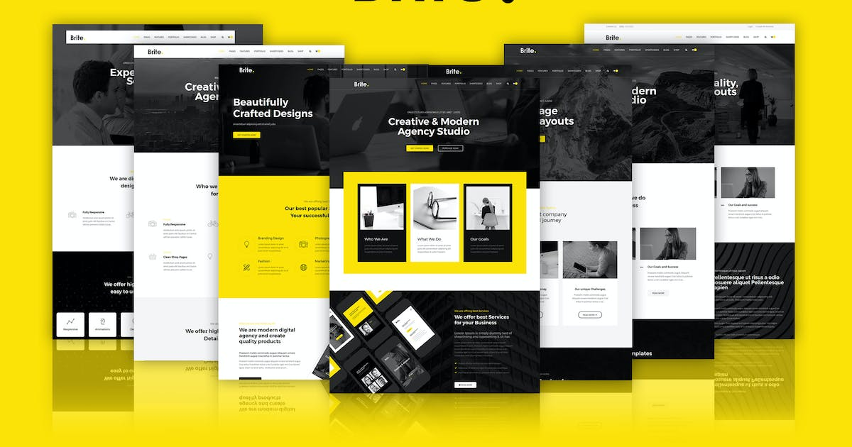 Download Brite | Responsive MultiPurpose HTML5 Template by codelayers