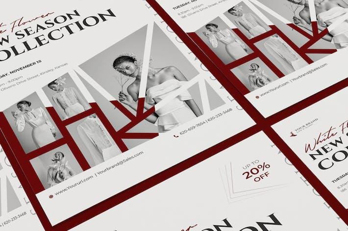 Thumbnail for Мода продаж плакат PSD Шаблон