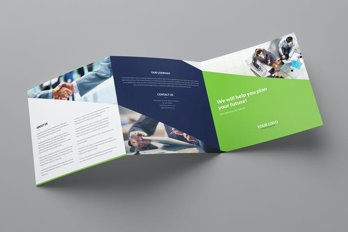 Thumbnail for Brochure – Company Tri-Fold Square