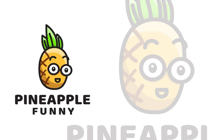 Thumbnail for Pineapple Funny Cute Logo Template