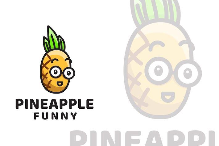 Ananas Lustige niedliche Logovorlage