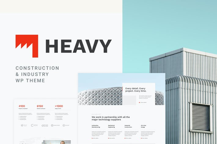 Thumbnail for Heavy - Industrial WordPress Theme