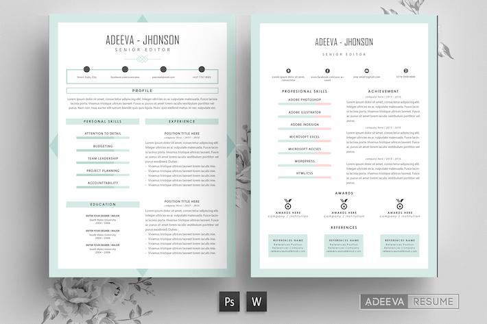 Thumbnail for Professional Resume Template Jhonson