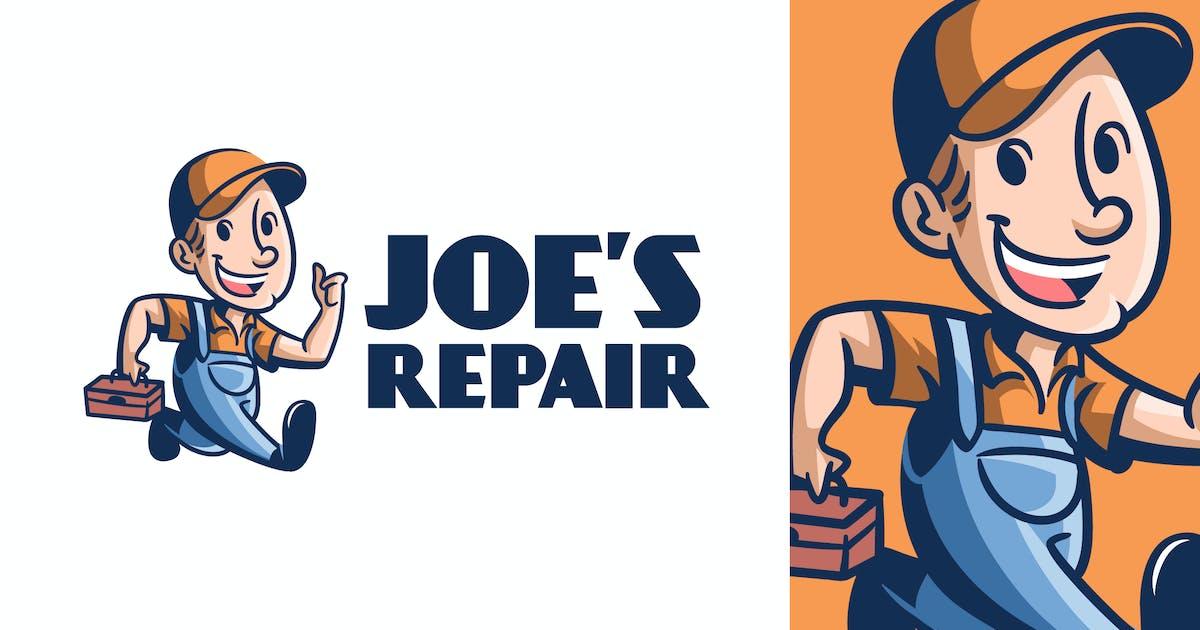 Download Retro Vintage Handyman or Repairman Mascot Logo by Suhandi