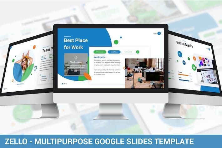 Thumbnail for Zello - Multipurpose Google Slides Template