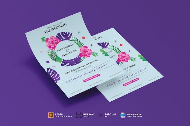 Wedding Invitation Flyer Template Vol. 01