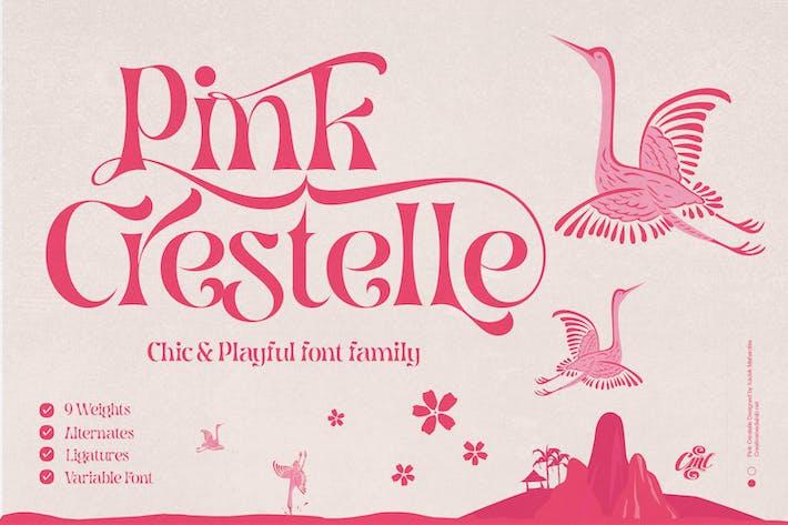 Розовый Крестель - Причудливый шрифт