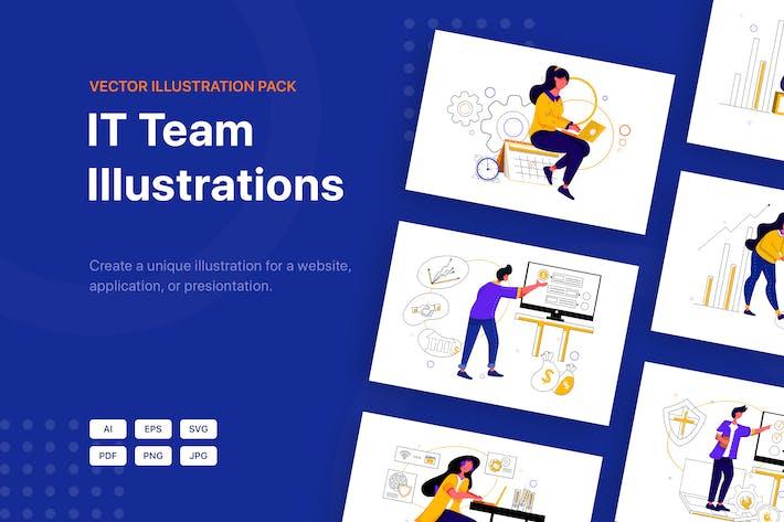 Thumbnail for IT-Team Illustrationen spaket