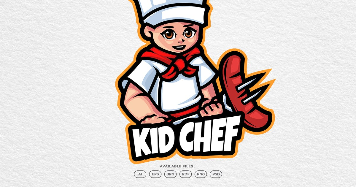 Download Sausage Chef Mascot Logo by yogaperdana7