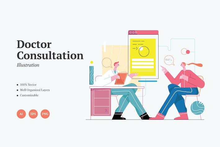 Doctor Consultation Graphics Illustration