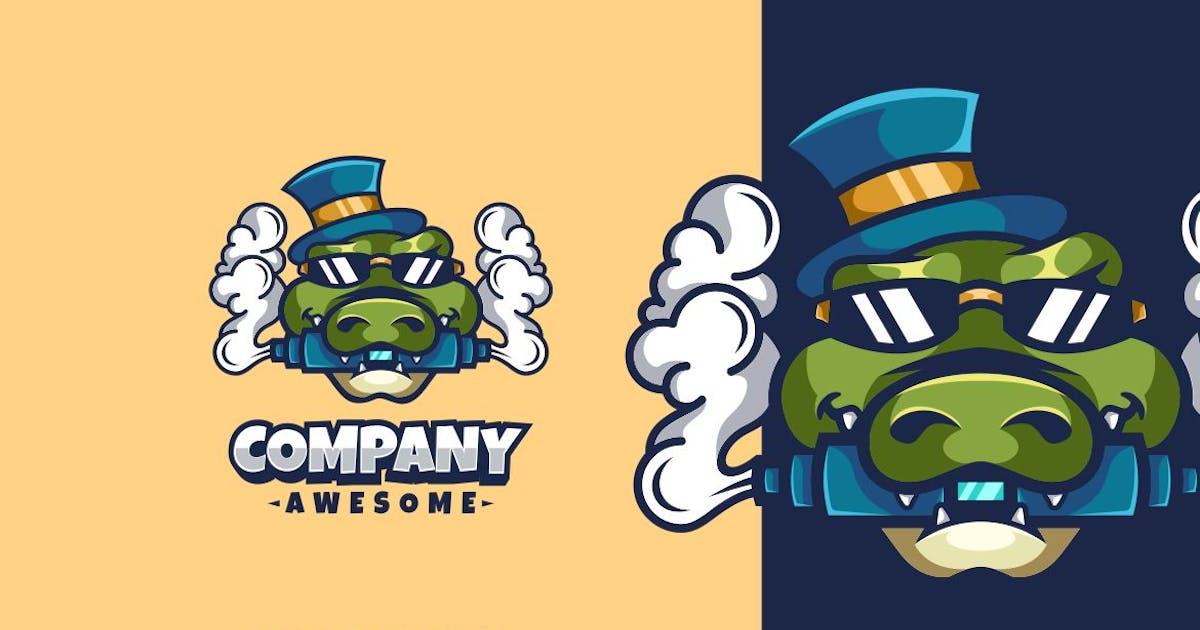 Download Crocodile Vapor Logo Mascot by maikohatta