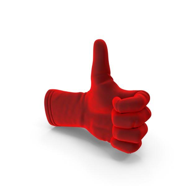 Бархатная перчатка пальцы вверх