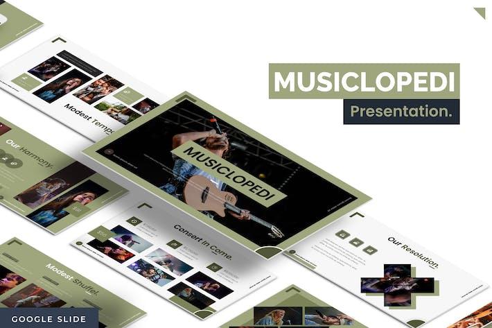 Thumbnail for Musiclopedi - Google Slides Template
