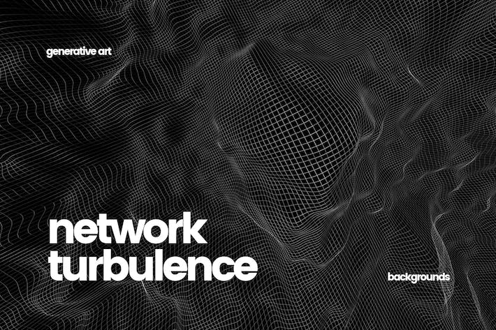 Cover Image For Network Turbulence Backgrounds
