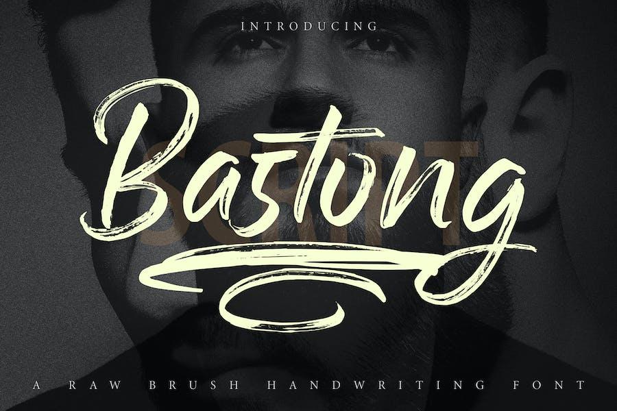 Bastong | Police de script d'écriture manuscrite Raw Brush