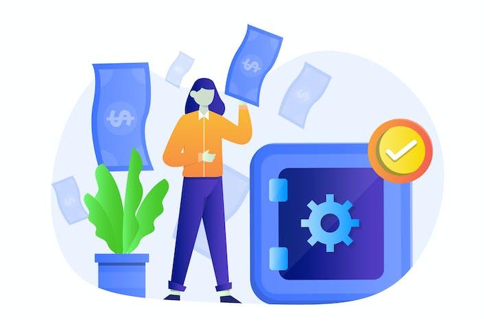 Thumbnail for Ilustración de diseño plano de seguros