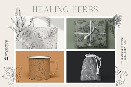 Herbs Patterns & Illustrations