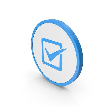 Icon Check Box Blue