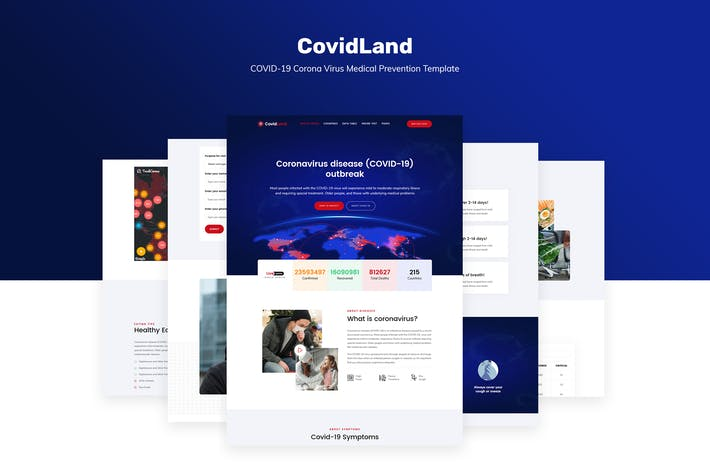 Thumbnail for CovidLand | COVID-19 Medical Prevention Template