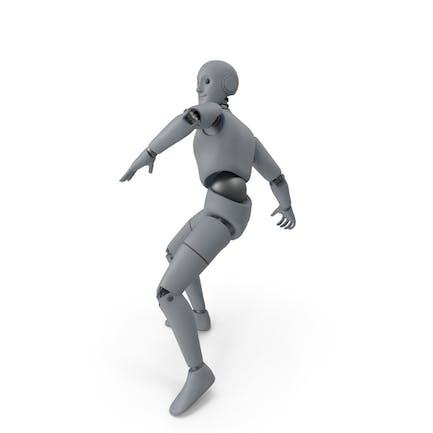 Friendly Robot Throwing Pose