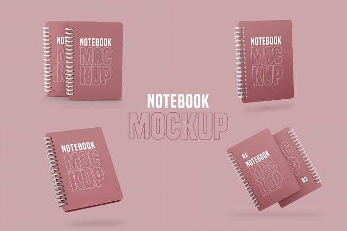 Thumbnail for Ringed Notepad Mockup Pack