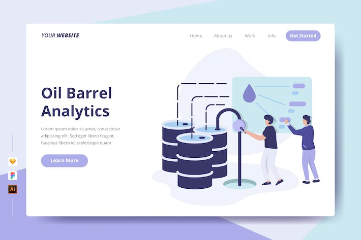 Thumbnail for Oil Barrel Analytics - Landing Page