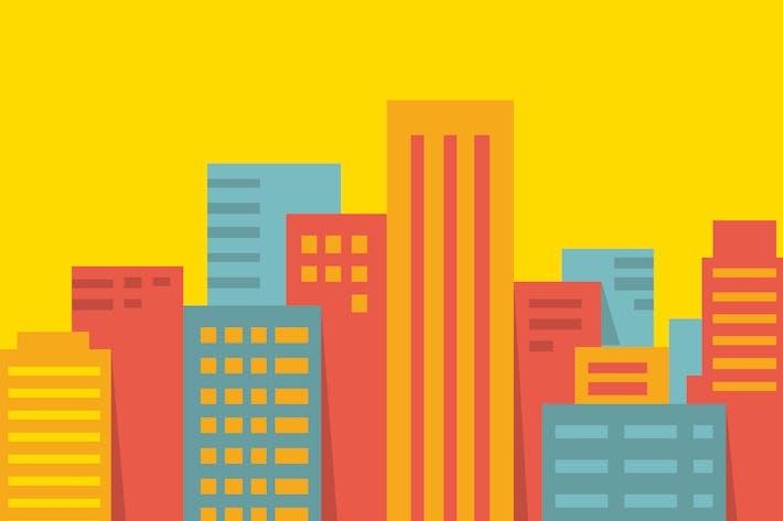 Thumbnail for Colleción de ilustración de la Ciudad Moderno